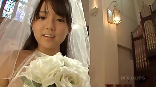 Young busty Japanese bride adjacent to church - Big Asian tits fetish